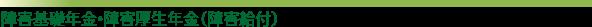 障害基礎年金・障害厚生年金(障害給付)