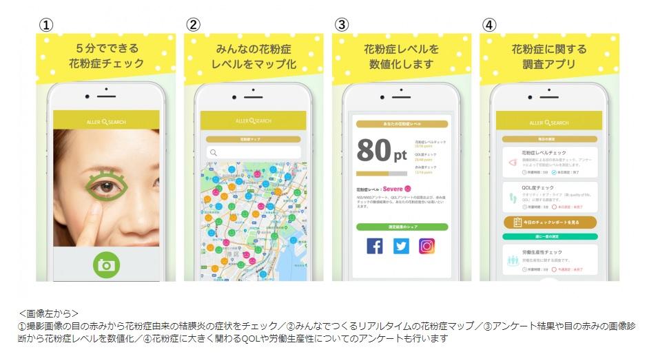 花粉症予防アプリ「アレルサーチ」で発症要因解明と予防の啓もうを(順天堂大学)